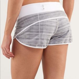 Lululemon Run Speed Shorts in Wee are from Space White Combo Size 2